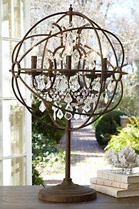 Iron Sphere Table Lamp