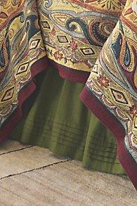 Silk Pintucked Bedskirt