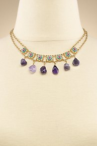 Amethyst Filigree Necklace