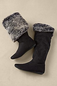 Fur and Suede Convertible Boots
