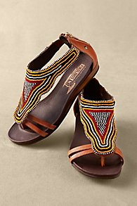 Womens Beaded Sandals