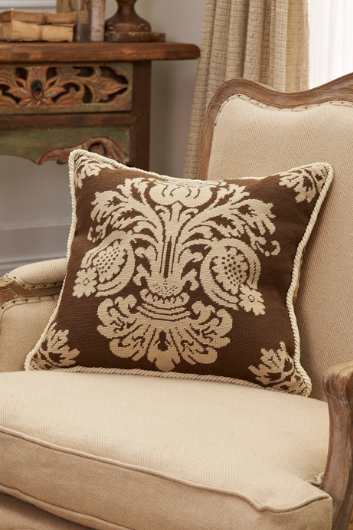 DAMASK AUBUSSON PILLOW