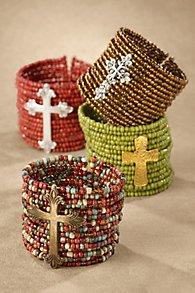 Glass Bead Cuff Bracelet
