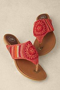 Womens Crocheted Sandals