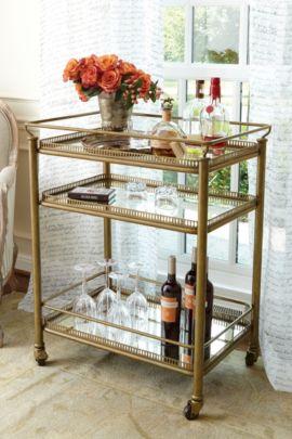 Burgundy Bar Cart