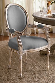 Oval Back Bergere Armchair