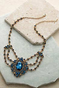 Antique Sapphire Statement Necklace