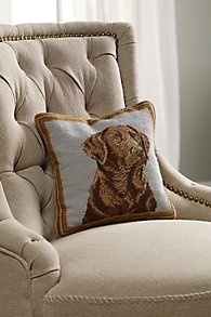 Chocolate_Lab_Aubusson_Pillow