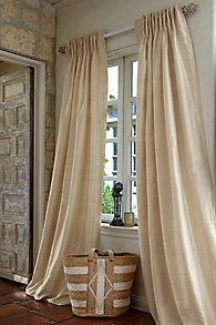 Silk Provencal Pleated Drapery Panel