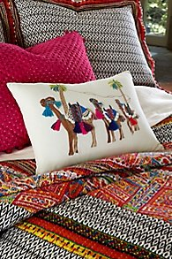 Camel Caravan Pillow