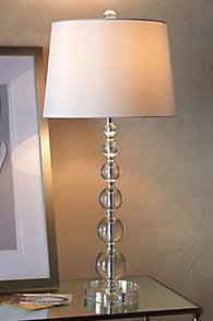Stacked Crystal Table Lamp