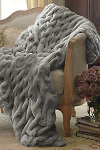 Paris Faux Fur Throw