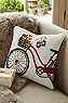 Holiday Bicycle Hook Pillow Photo