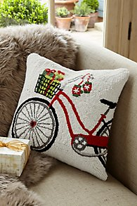 Holiday Bicycle Hook Pillow