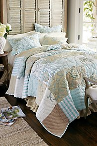 Hampshire Embroidered Patchwork Quilt