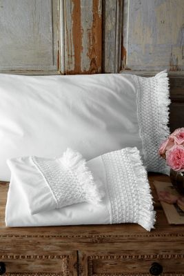 Trousseau Fringed Sheet Set - Cotton Percale Sheet Set ...
