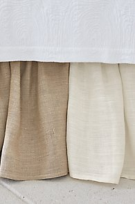 Gathered Linen Bedskirt