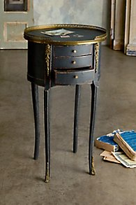 Black Oval Side Tables