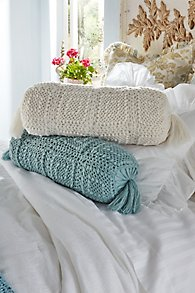 Crochet Knit Bolster Pillow