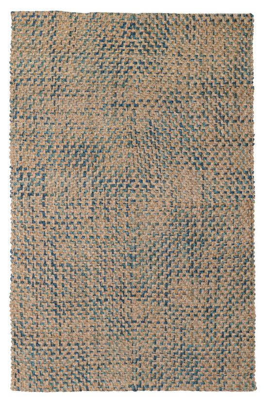 Natural jute area rug from Soft Surroundings beautiful blue jute area rug natural jute with navy blue accents coastal decor rug ideas blue rugs #rugs #coastaldecor #softsurroundings