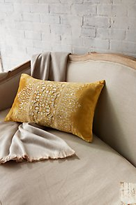 Taj Embroidered Velvet Pillow