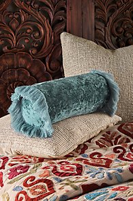 Alyssa Velvet Bolster Pillow
