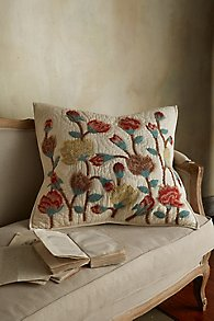 Flores Embroidered Euro Sham