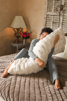 Paris Faux Fur Body Pillow