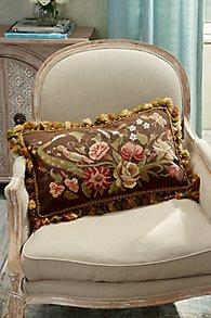 Autumn Bouquet Needlepoint Pillow