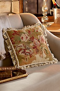 Fall Roses Needlepoint Pillow