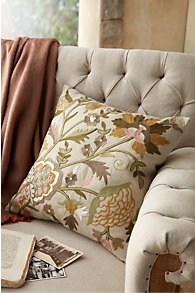 Jardin Embroidered Pillow