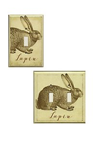 Lapin Decoupage Switch Plate