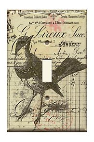 Oiseau Decoupage Switch Plate
