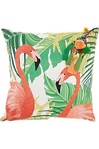 Flamingo Paradise Pillow