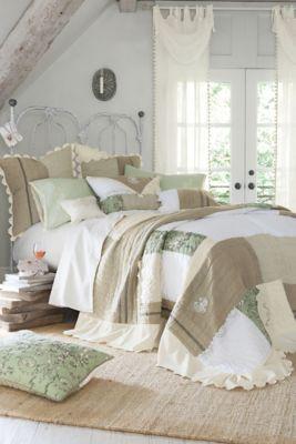 Normandy quilt patchwork quilt heirloom patwork quilt - Cabeceros de cama rusticos ...