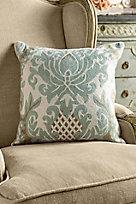Crewel Damask Pillow Cover