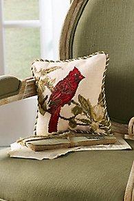 Cardinal Needlepoint Pillow