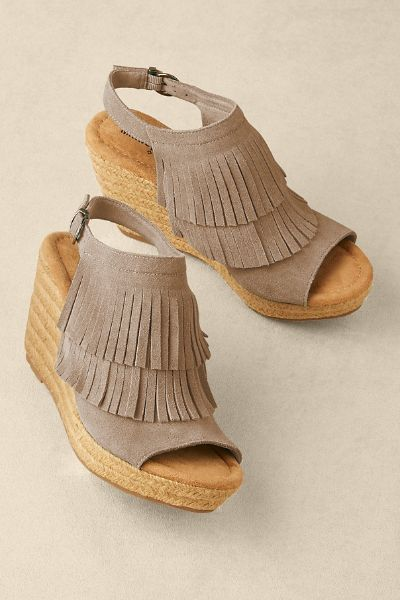 Zion Wedges - Minnetonka Wedges, Fringe Wedges | Soft Surroundings Outlet - Zion Wedges - Minnetonka Wedges, Fringe Wedges Soft Surroundings