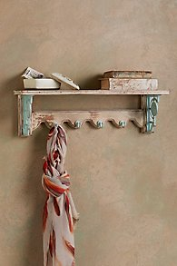Provence Wall Shelf with Hooks
