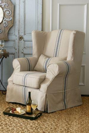 living room chair slipcovers. Slipcovered Tristan Chair  Slipcover Wingback