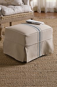 Slipcovered Tristan Ottoman