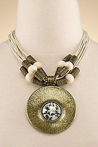 Brass Shield Necklace