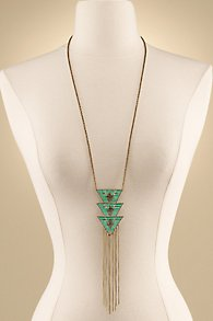 Arrow Fringe Necklace