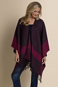 City Chic Color Block Poncho