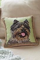 Cairn Terrier Needlepoint Pillow