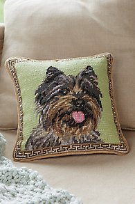 Cairn Terrier Needlepoint Pillow