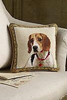Beagle Needlepoint Pillow