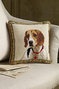 Beagle_Needlepoint_Pillow