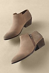 Distressed Suede Selma Booties