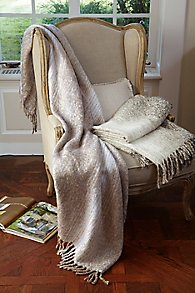 Fringed Ombre Throw